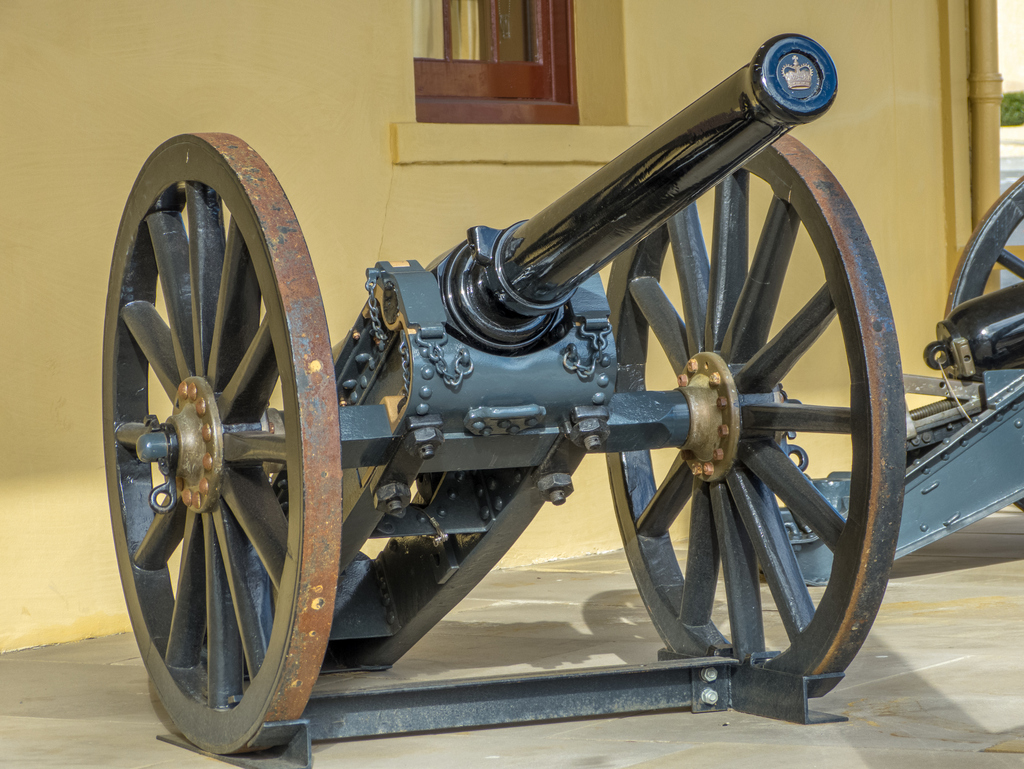 7 Pounder rifled Mountain Guns or Screw Guns c. 1878 and 1881